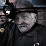 portrait de mineur de charbon ukrainien sur le carreau. Youry Bilak.