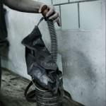 Masque à gaz de mineur de charbon. Région de Donetsk, Donbas, Ukraine. Photo Youry Bilak.