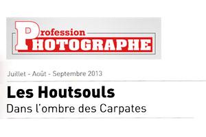 """Article dans le mazine """"Profession Photographe"""" au sujet de la sortie du Livre """"Les Houtsouls"""" de Youry Bilak"""