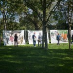 Festival photo de barro. BarrObjectif. Youry Bilak, exposition en plein air en grand format