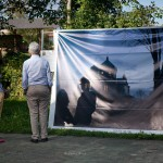 Festival photo de barro. BarrObjectif. Youry Bilak, exposition en plein air en grand format 2x3m