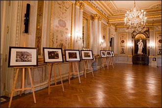 Youry Bilak. Exposition de photos du Maïdan à l'hôtel de Talleyrand, place de la Concorde