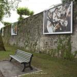 Festival photo de Dax, exposition de Youry Bilak sur les remparts. Pâques