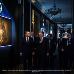 Президент Польщі Анджей Дуда, Президент України Петро Порошенко, і глава адміністрації президента України Борис Ложкін на виставці Юрія Білака Проекція, 15 грудня 2015.